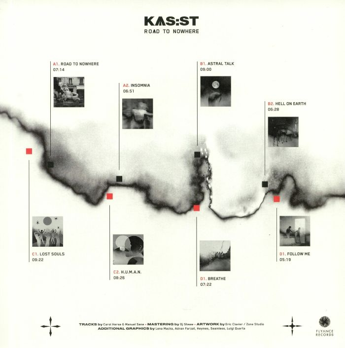( FLYLP 001 )  KAS ST - Road To Nowhere (2xLP + MP3 download code) Flyance