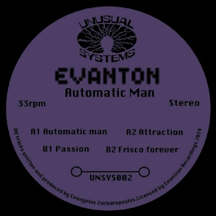 """( UNSYS 002 ) EVANTON - Automatic Man (12"""") Unusual Systems"""