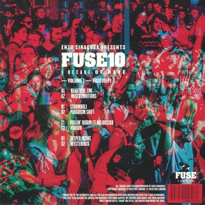FUSE 10LP1 ) Enzo SIRAGUSA - A Decade Of Rave (2xLP + MP3