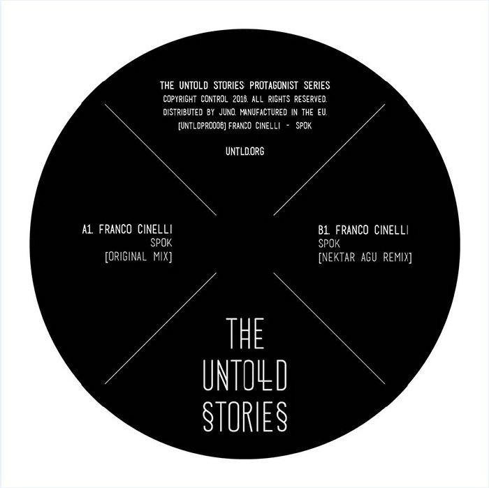 "( UNTLDPRO 006 ) Franco CINELLI - Spok (140 gram 12"") The Untold Stories"