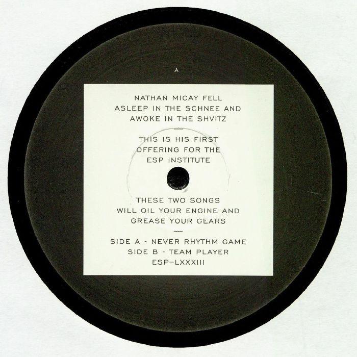 "( ESP 083 ) Nathan MICAY - Never Rhythm Game (12"") ESP Institute"