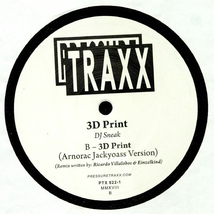 """( PTX 022.1 ) DJ SNEAK - 3D Print (12"""") Pressure Traxx"""
