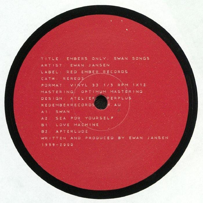 "( RERE 03 ) Ewan JANSEN - Embers Only: Swan Songs (12"") Red Ember Australia"