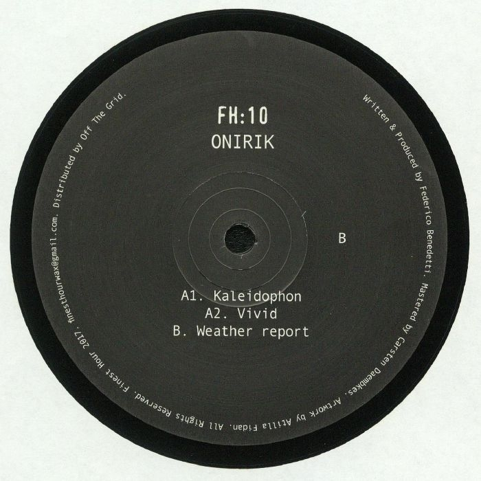 "(  FH 10 )  ONIRIK - FH 10 (12"") - Finest Hour Germany"