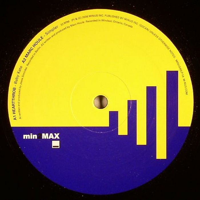 "( MINUS 40-1 ) HEARTTHROB / MARC HOULE/WINK -  Min 2 Max Sampler 1/3 (12"") Minus Canada"