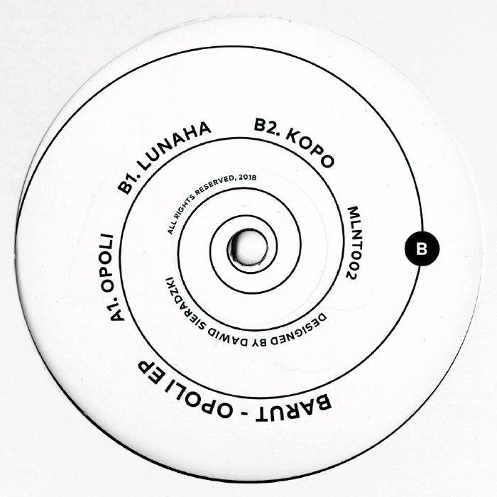 "( MLNT 002 ) BARUT - Opoli EP (180 gram coloured vinyl 12"") Moulinet Germany"