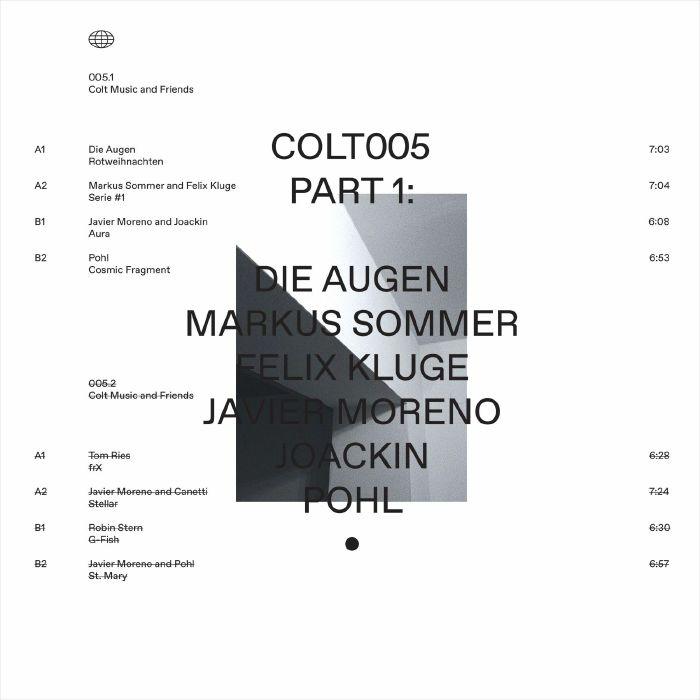 """( COLT 005.1 ) DIE AUGEN / MARKUS SOMMER / FELIX KLUGE / JAVIER MORENO / JOACKIN / POHL - Colt Music & Friends Part 1 (12"""") Colt Spain"""