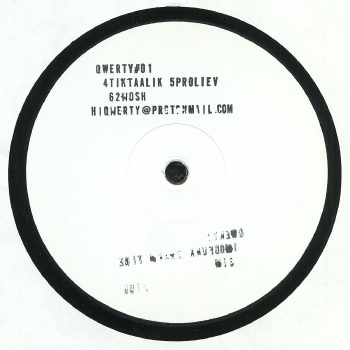 "( QWERTY 01 ) QWERTY - QWERTY #01 (hand-numbered hand-stamped 12"" limited to 150 copies) Qwerty UK"