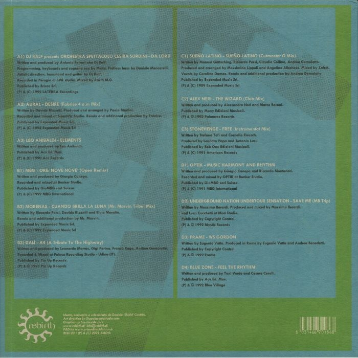 ( REB 123 ) VARIOUS ARTISTS - Ciao Italia: Generazioni Underground ( 2xLP + 20 page booklet ) Rebirth