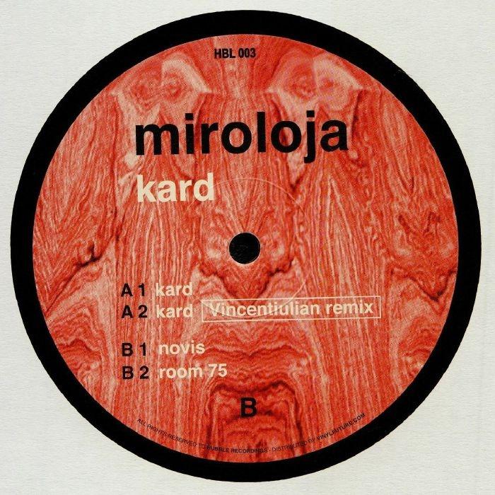 "( HBL 003 ) MIROLOJA - Kard (12"") Hubble Recordings"