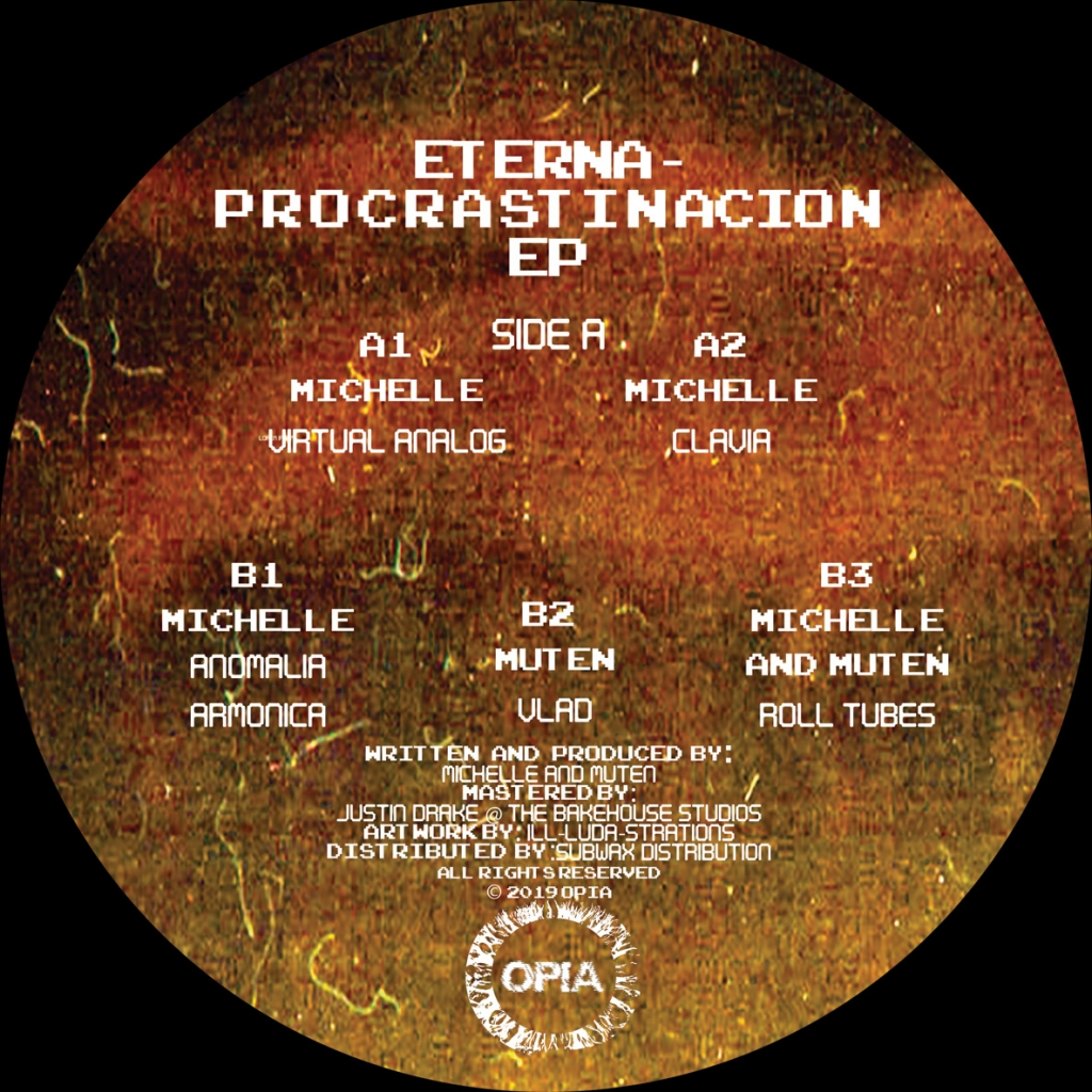 "( OPIA 004 ) MICHELLE & MUTEN - Eterna Procrastinacion (12"") Opia"