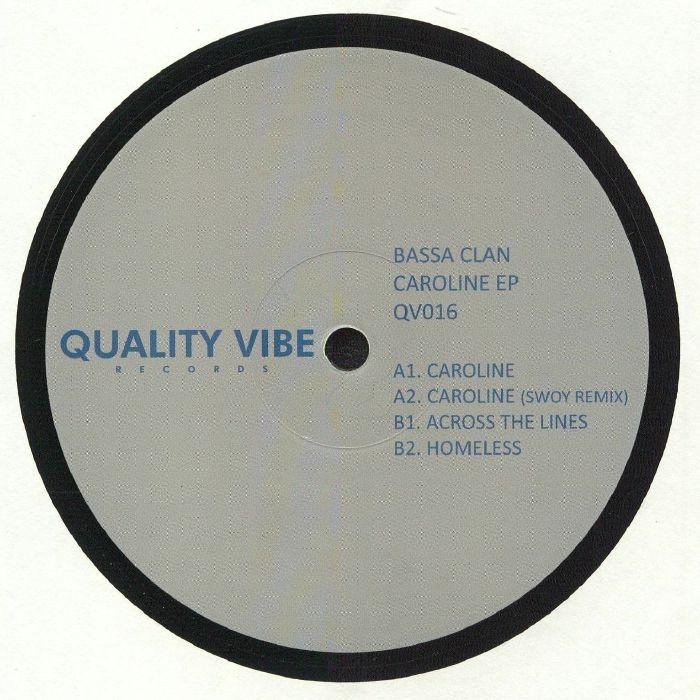 "( QV 016 ) BASSA CLAN - Caroline EP (heavyweight vinyl 12"") Quality Vibe Italy"