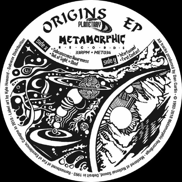 """( MET 034 ) PLANETARY - Origins EP (12"""") Metamorphic US"""