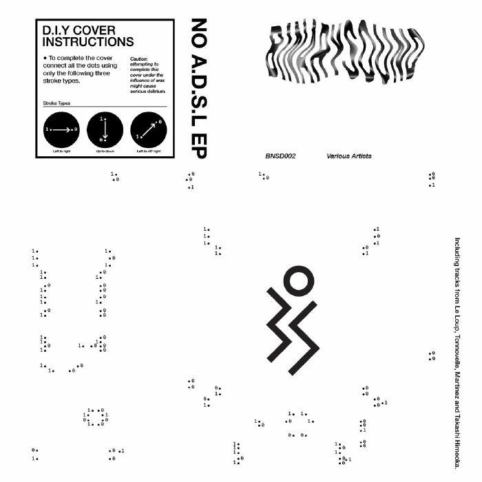 """( BNSD 002 ) LE LOUP / TONNOVELLE / MARINEZ / TAKASHI HIMEOKA - No ADSL EP (12"""") BinarySound"""