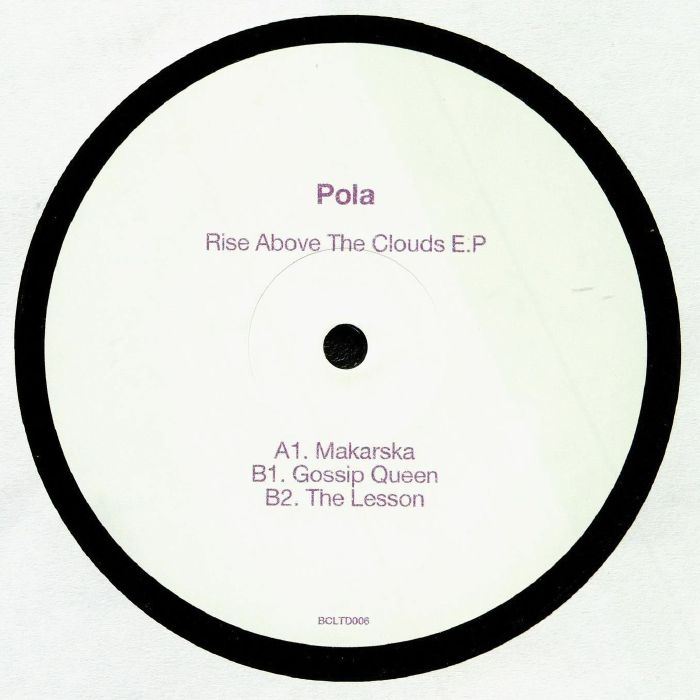 "( BCLTD 006 )  POLA - Rise Above The Clouds EP (12"") Bass Culture France"