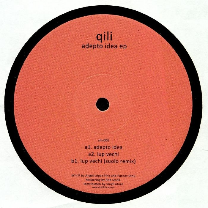 "( AFRV 003 ) QILI - Adepto Idea EP (heavyweight vinyl 12"") - Aforisme Holland"