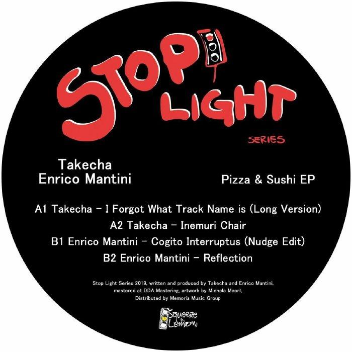 "( SLS 001 ) TAKECHA / ENRICO MANTINI - Pizza & Sushi EP (12"") Squeeze The Lemon Italy"