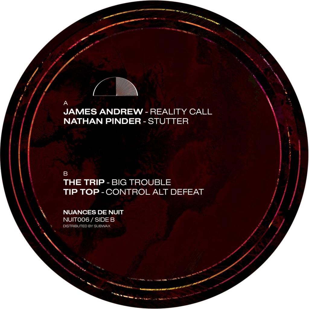 """( NUIT 006 ) JAMES ANDREW, NATHAN PINDER, THE TRIP & TIP TOP -  Nuances de Nuit, Vol. 6 (12"""") Nuances de Nuit"""