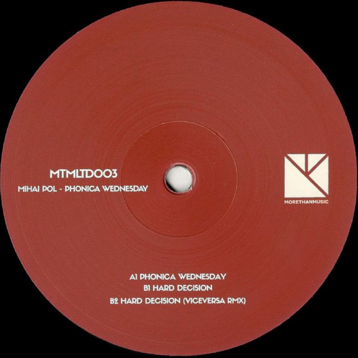 "( MTMLTD 003 ) Mihai POL - Phonica Wednesday (limited 180 gram vinyl 12"") MTM Holland"