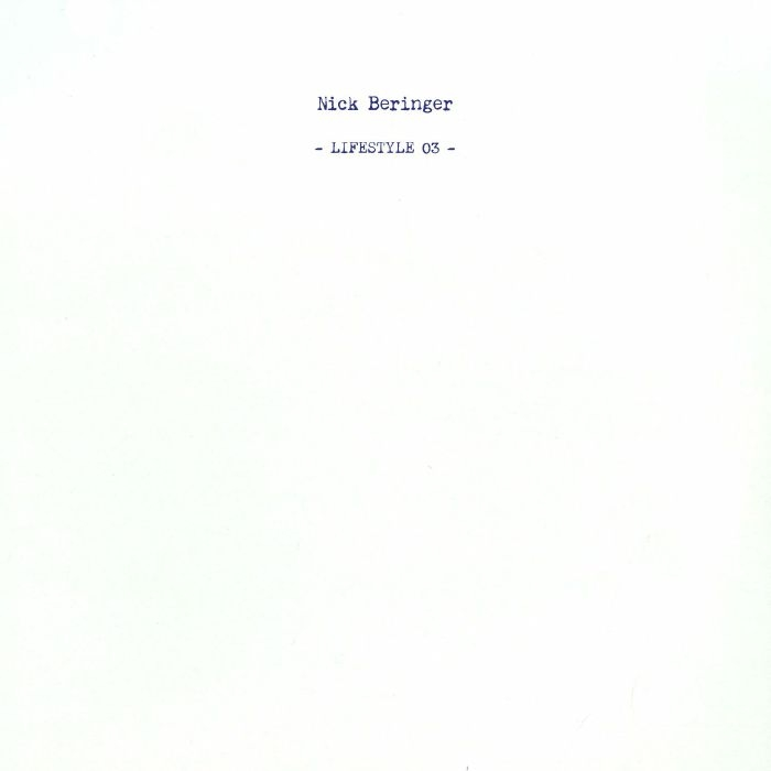 "(  LIFESTYLE 03 )  Nick BERINGER - LIFESTYLE 03 (12"") Lifestyle Spain"