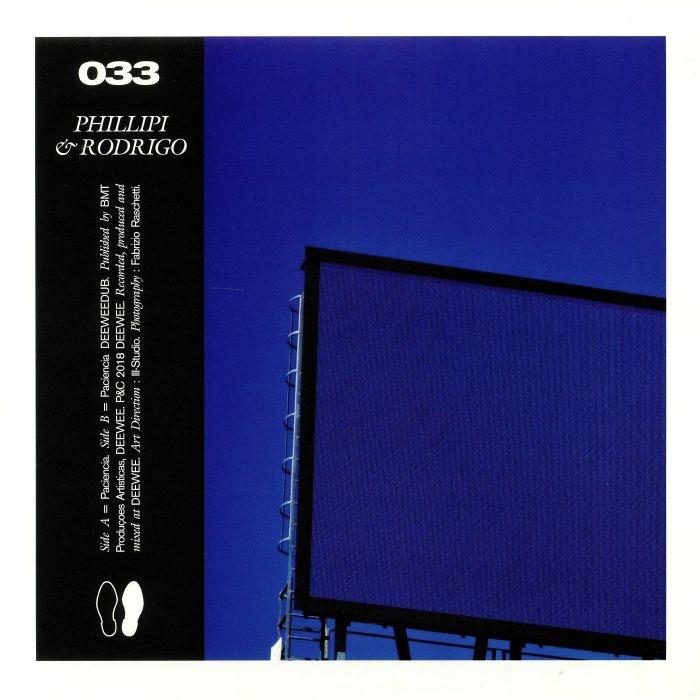 "( DEEWEE 033 ) PHILLIPI & RODRIGO - Paciencia (12"") Deewee Belgium"