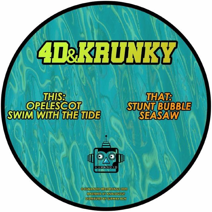 """( HMND 001 ) 4D&KRUNKY - HMND001 (12"""") Humanoid Recordings"""