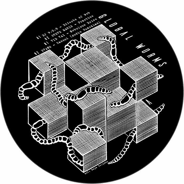 "(  PHI 006 ) DJ WEB aka WALID / STEVE MARIE / VID VAI/EVANO - Global Worms EP (12"") PHI Germany"