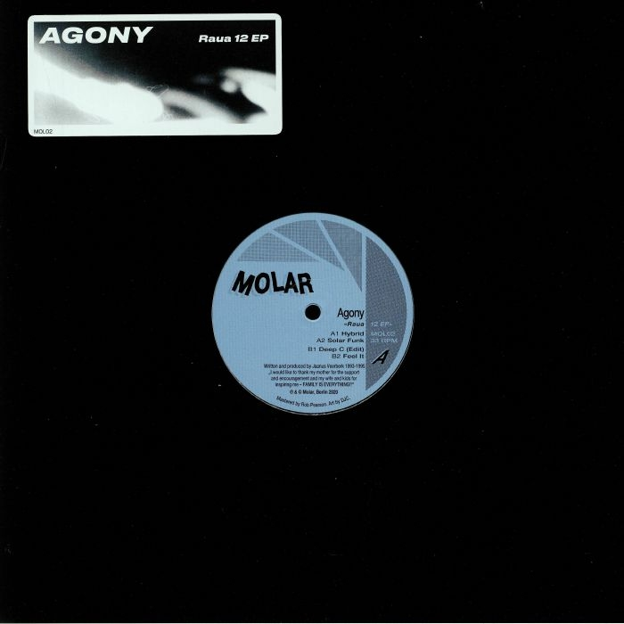 "( MOL 02 ) AGONY - Raua 12 EP (12"") (1 per customer) Molar Germany"