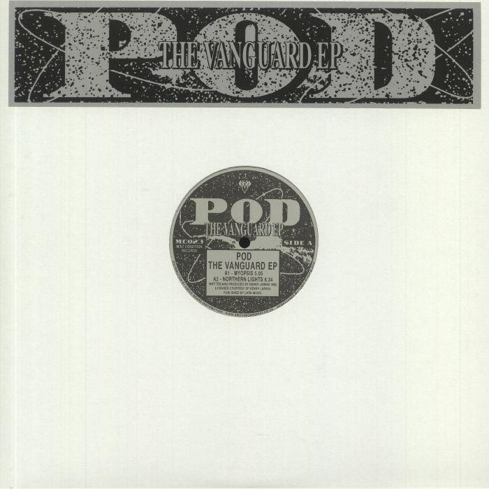 "(  MC 023CLEAR ) POD aka KENNY LARKIN - The Vanguard EP (reissue) (clear vinyl double 12"") Mint Condition UK"