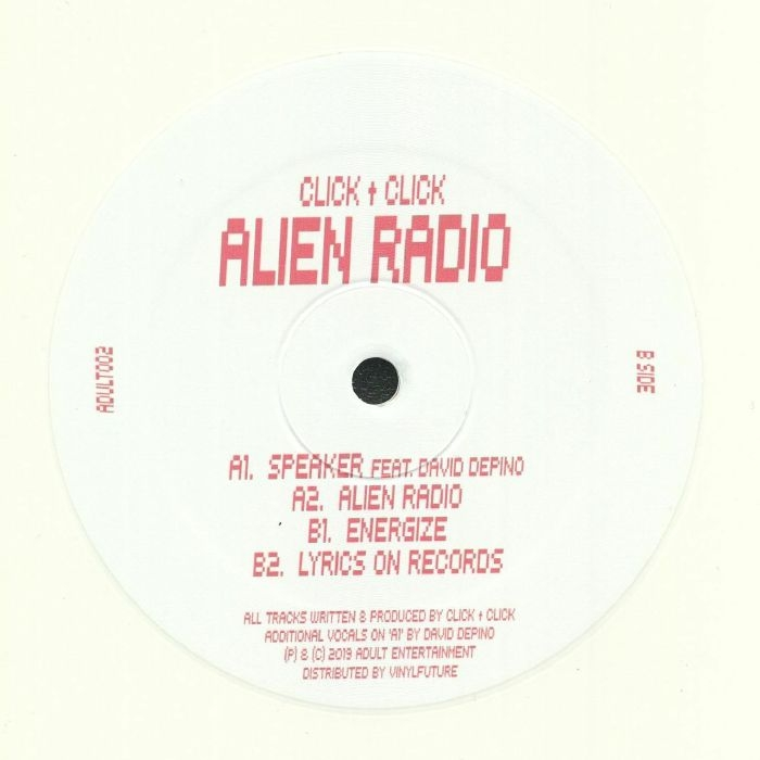 "( ADULT 002 ) CLICK CLICK - Alien Radio (heavyweight white vinyl 12"") Adult Entertainment Germany"