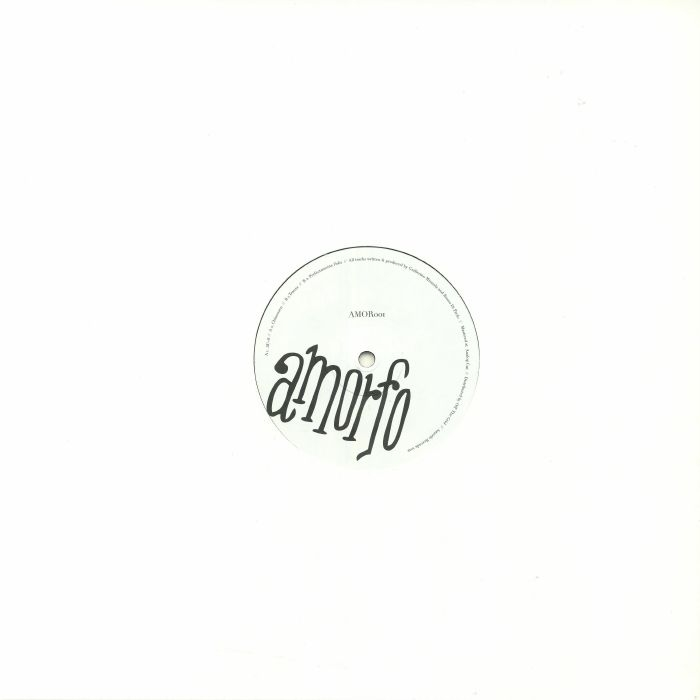 """( AMOR 01 )  Bruno DI PAOLO / DANIELA SECCIA / GUILLERMO MIRANDA - Realidad Amorfa EP (12"""") - Amorfo Uruguay"""