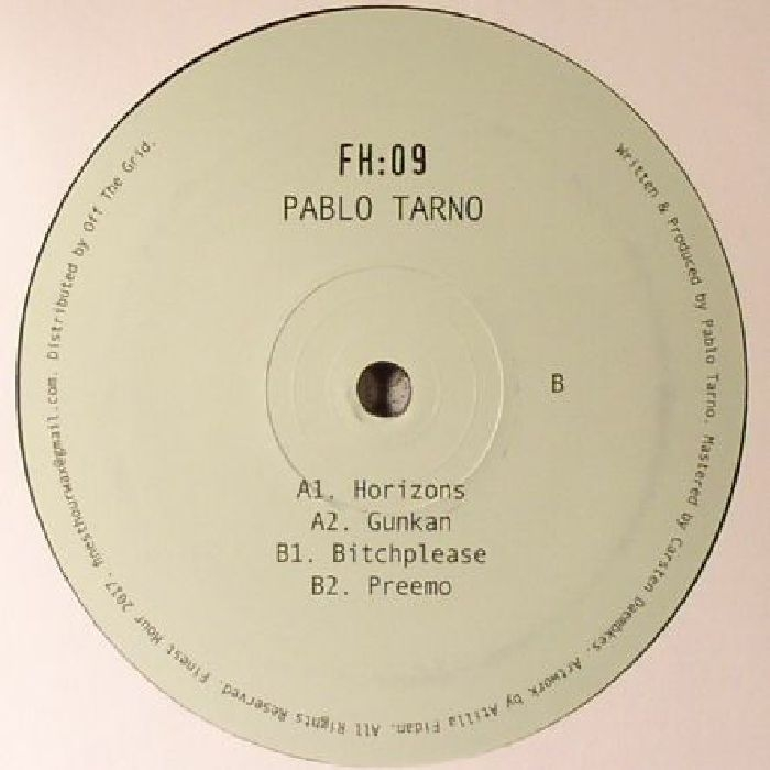 "( FH 09 )  Pablo TARNO - FH 09 (12"" in hand-stamped sleeve) - Finest Hour Germany"