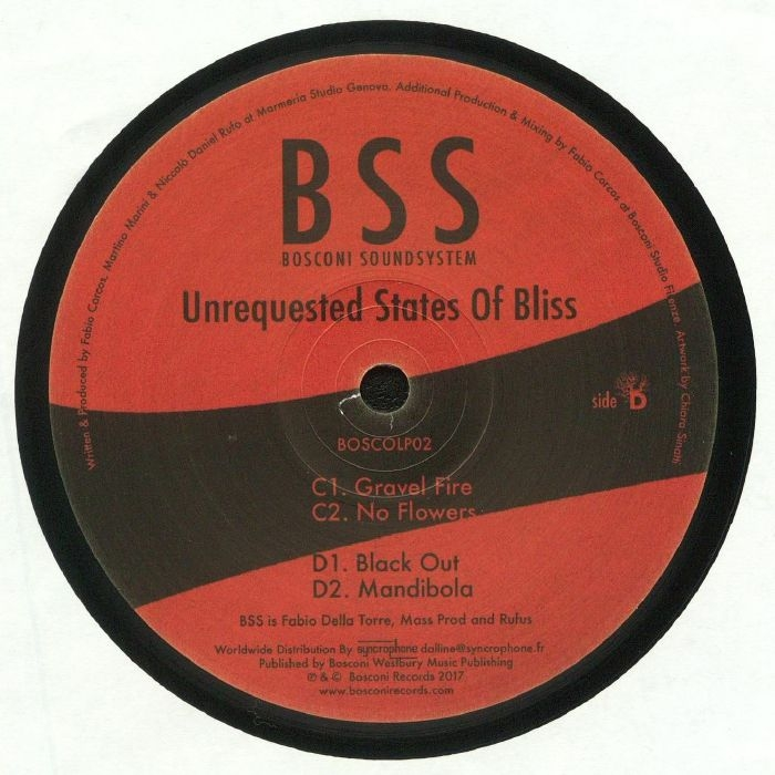 "( BOSCOLP 002 ) BSS - Unrequested States Of Bliss ( Format: double 12"") Bosconi Italy"