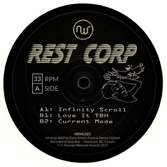 """( NRML 023 ) REST CORP - Infinity Scroll (12"""") Normals Welcome Canada"""