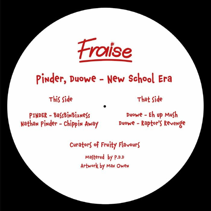 """( STRWB 003. ) PINDER / DUOWE - New School Era (12"""") Fraise"""