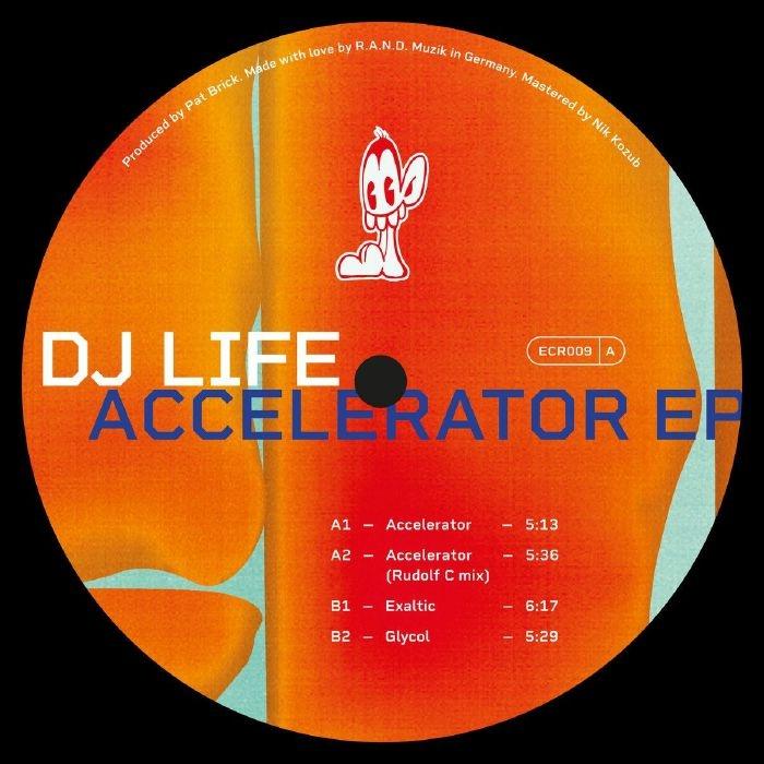 "( ECR 009 ) DJ LIFE - Accelerator EP (12"") Echocentric"