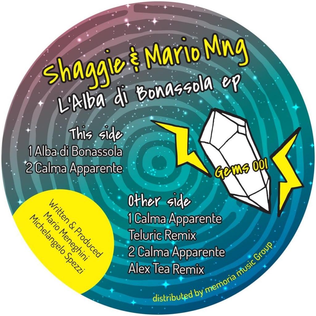 "( GEMS 001 ) SHAGGIE / MARIO MNG - L'Alba Di Bonassola EP (12"") Rare Gems Italy"