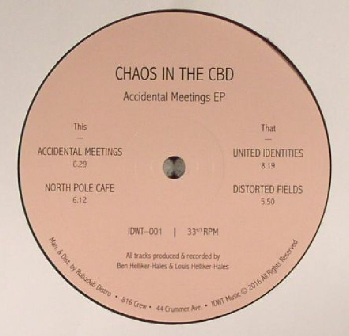 """( IDWT 001 ) CHAOS IN THE CBD - Accidental Meetings EP (12"""" repress) (1 per customer) In Dust We Trust"""
