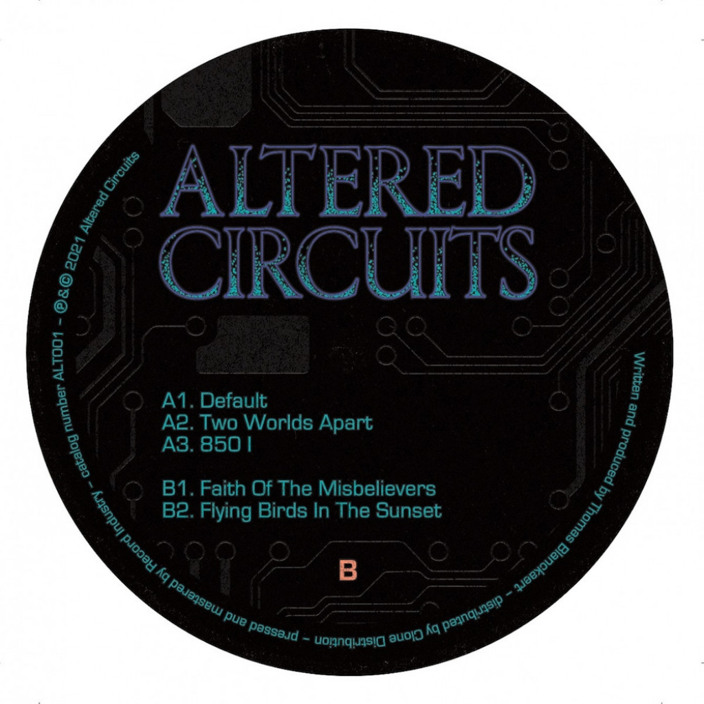 """( ALT 001t ) INNERSHADES - Faith Of Missbelievers EP ( 12"""" vinyl ) Altered Circuits"""