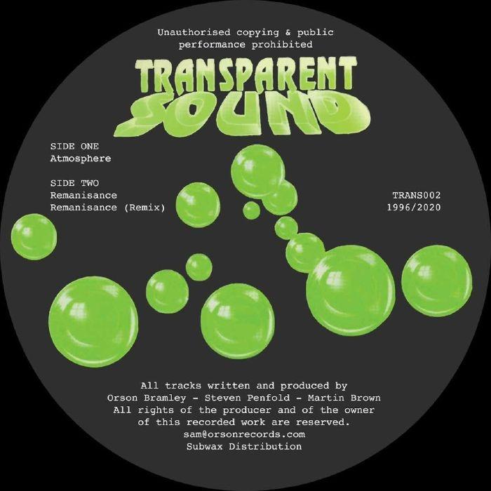 "( TRANS 002 ) TRANSPARENT SOUND - Atmosphere (reissue) (12"") Transparent Sound"