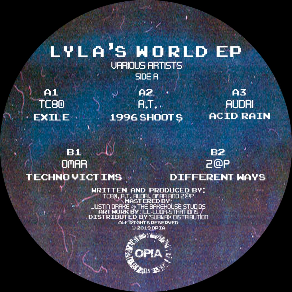 "( OPIA 003 ) VARIOUS - Lyla's World EP (12"") Opia Records"
