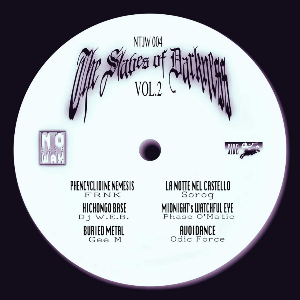 """( NTJW 004 ) VARIOUS - The Slaves of Darkness Vol. 1 (12"""") No Tech, Just Wax"""