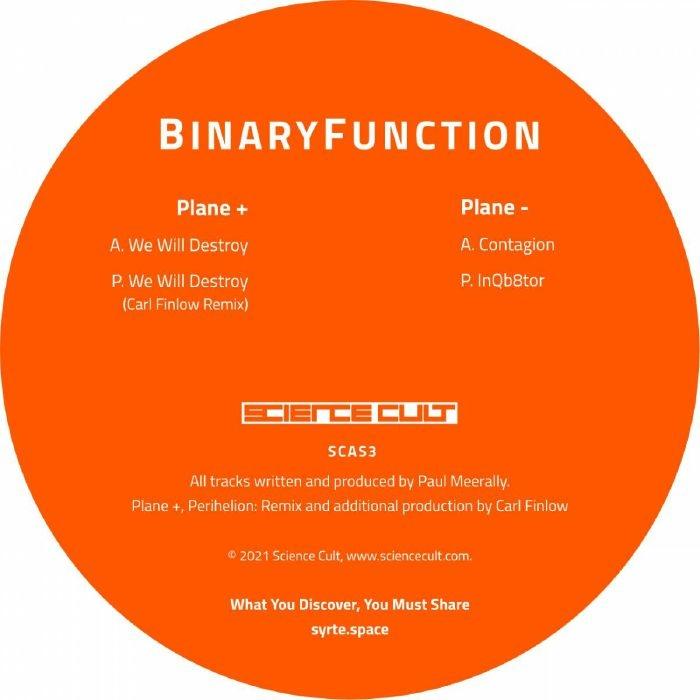 "( SCAS 3 ) BINARYFUNCTION - 589 592 (orange vinyl 12"") Science Cult"