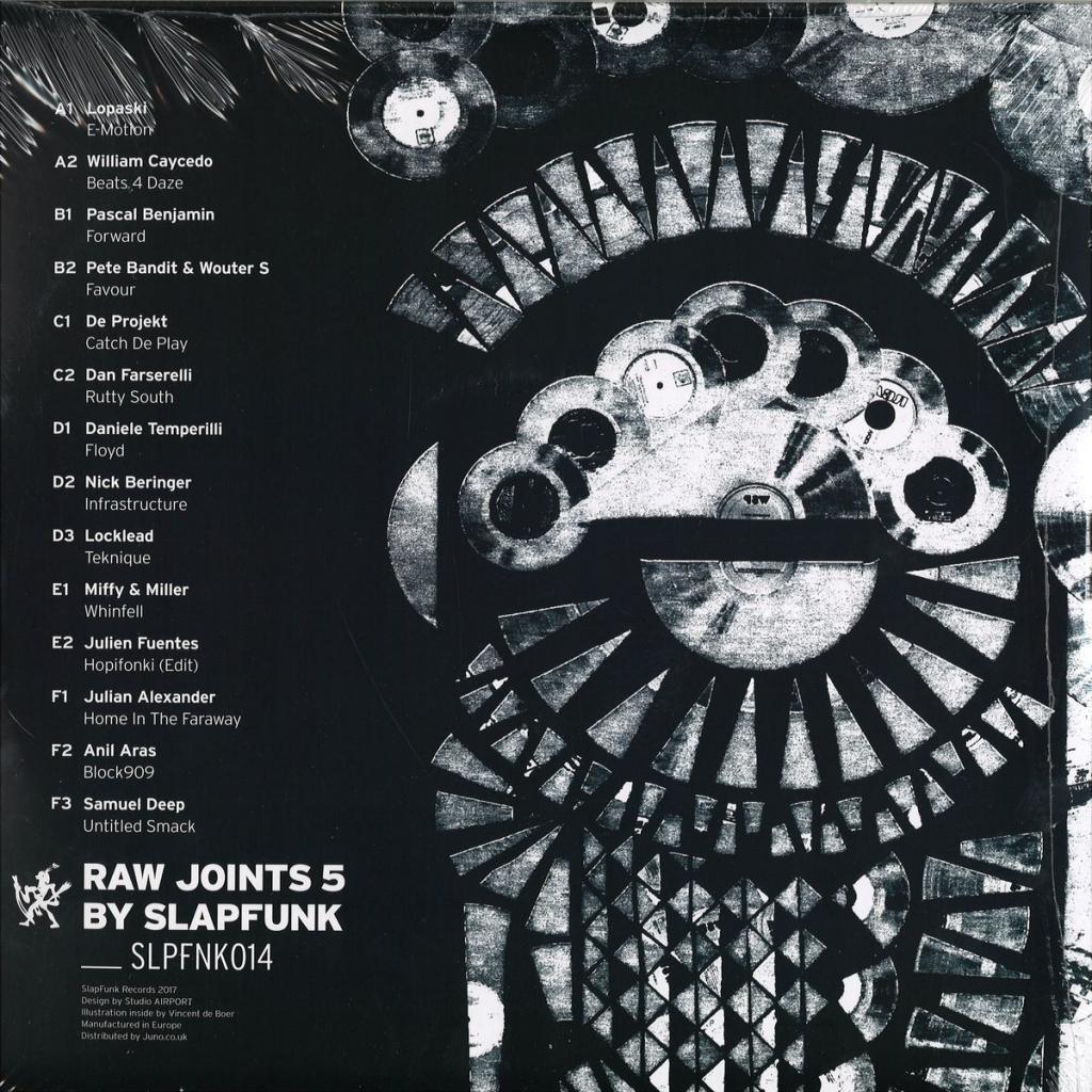 "(  SLPFNK 014 ) VARIOUS - Raw Joints #5 (140 gram triple 12"") SlapFunk Netherlands"