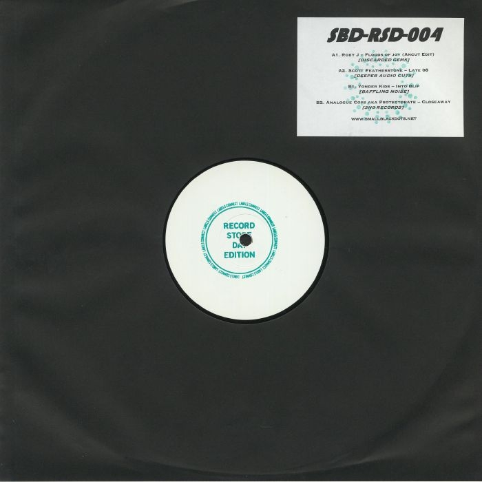 "( SBDRSD 004 ) ROBY J / SCOTT FEATHERSTONE / YONDER KIDS / ANALOGUE COPS aka PROTECTORATE - SBD RSD 004 (R S D 2020) (hand-stamped 12"" ltd 150 copies) (1 per customer) Small Black Dots"