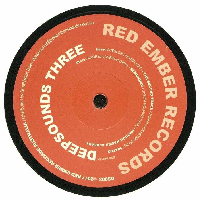 "( DS 003 ) Cheslon HUNTER / ROHAN GOLESTANI / ANDREJ LASEECH / JASON HOGANS - Deepsounds Three (12"") - Red Ember Australia"