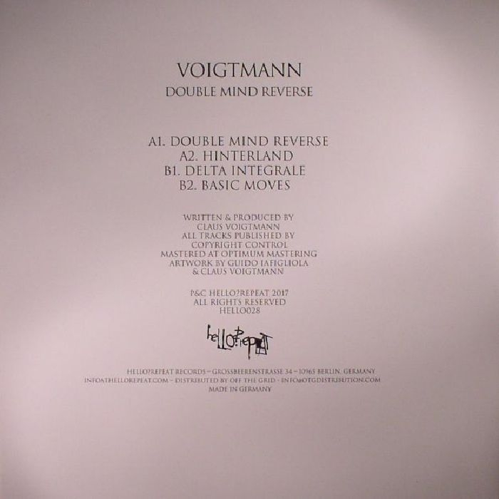 """( HELLO 028 )  VOIGTMANN - Double Mind Reverse (12"""") - Hello? Repeat Germany"""