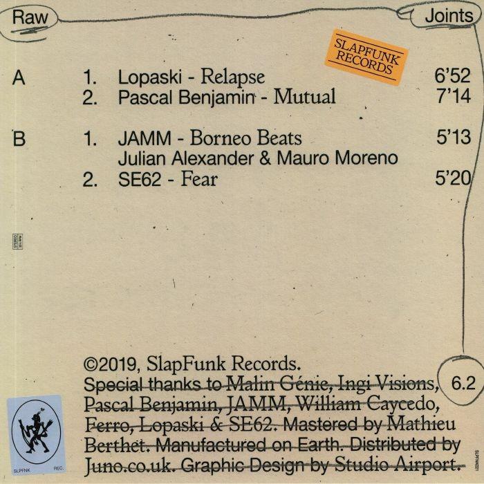 "( SLPFNK 021 ) LOPASKI / PASCAL BENJAMIN / JAMM / SE62 - Raw Joints #6.2 (180 gram vinyl 12"") SlapFunk Netherlands"