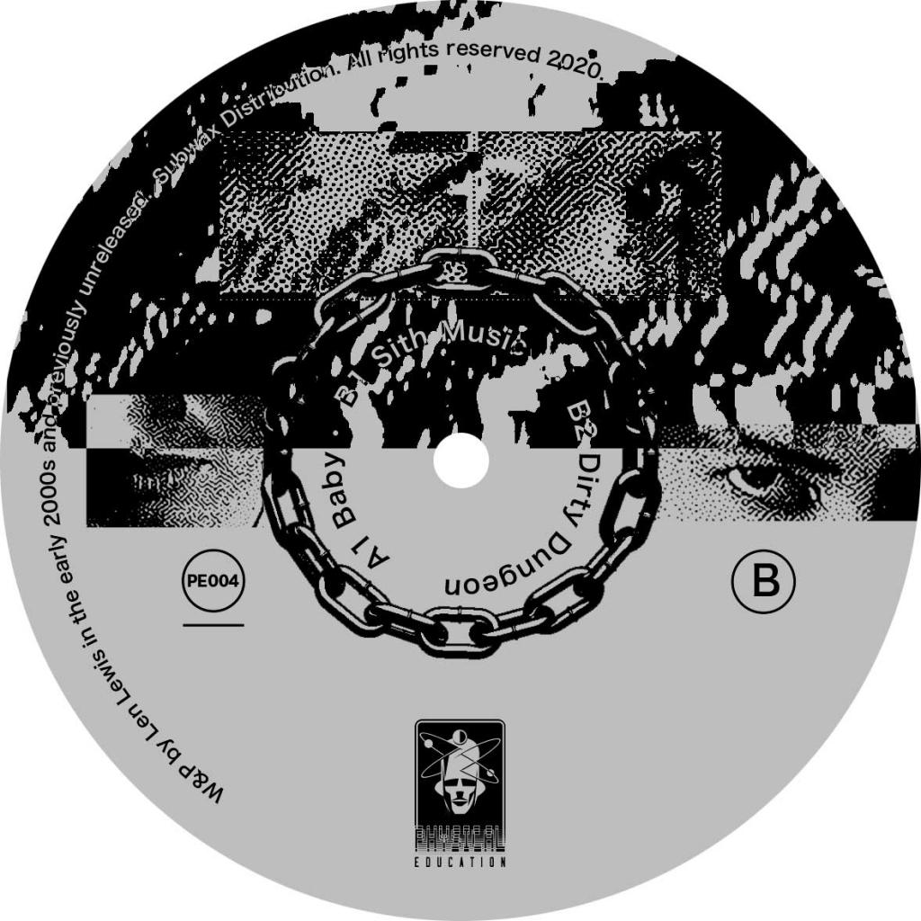 "( PE 004 ) LEN LEWIS - The Sinistertechhouse EP (12"") Physical Education"