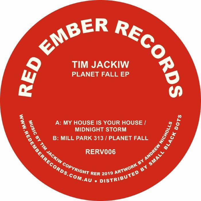 "( RERV 006) Tim JACKIW - Planet Fall EP (12"") Red Ember Australia"